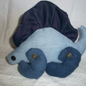 Photo of a Denim Dimetrodon Toy