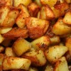 A pan of oven roasted potatoes