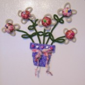 photo of finished Flower Pot Note Holder