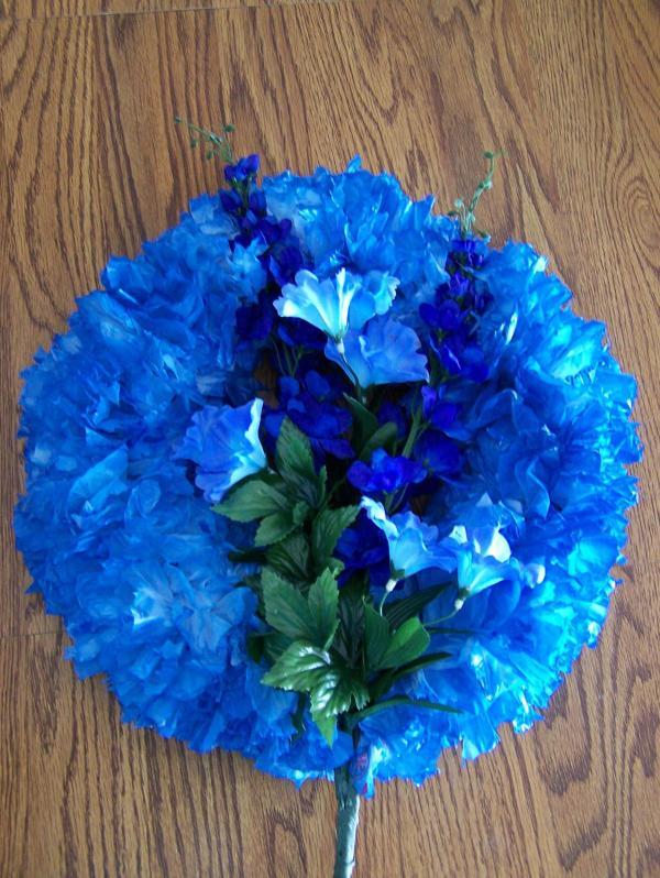 Photo of Blue Plastic Bag Wreath