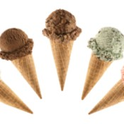 pictures of sugar cones with ice cream