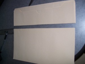 Cardstock parts for the briefcase.