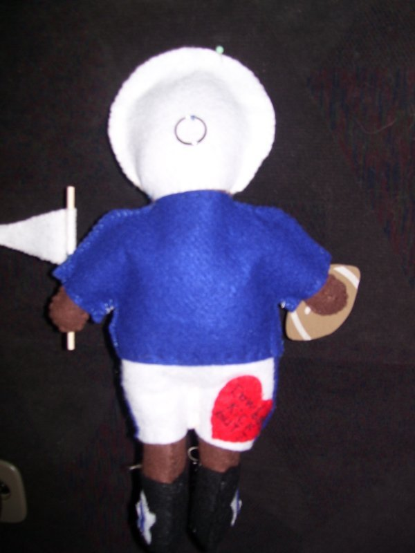 Back side of the Football Dad Doll