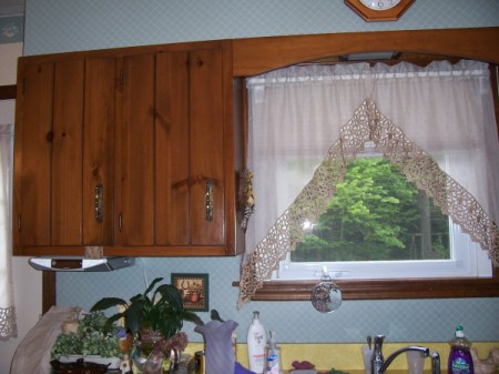 Photo of Curtains and coutertop samples