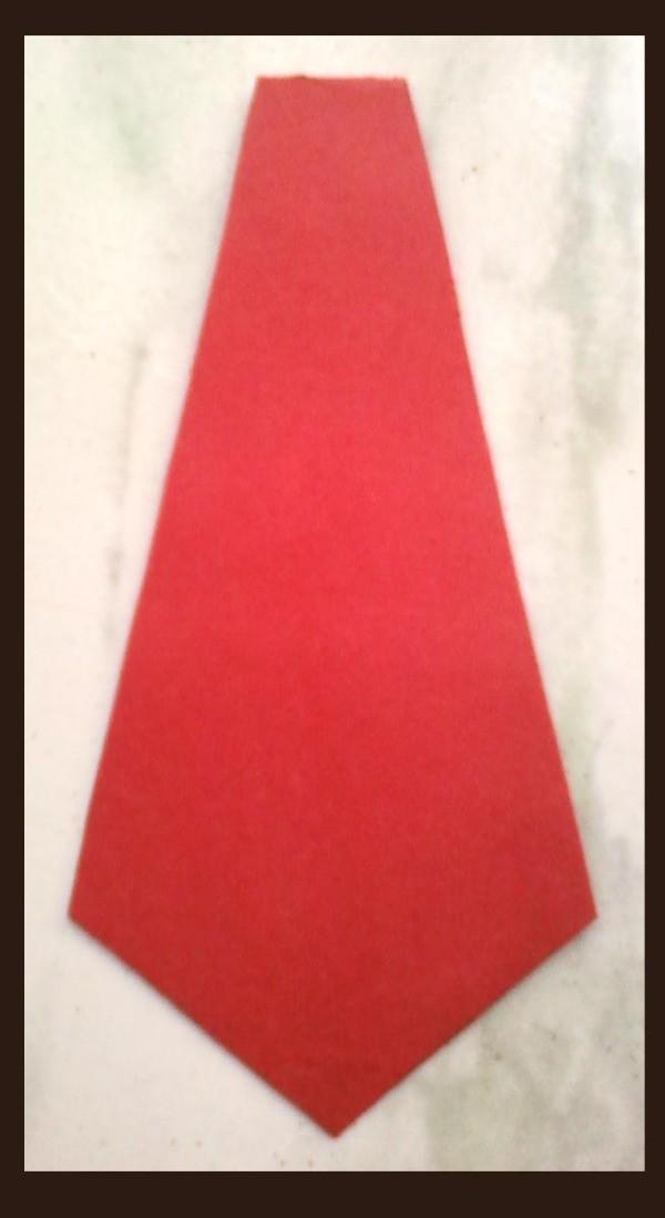 Cut out tie shape