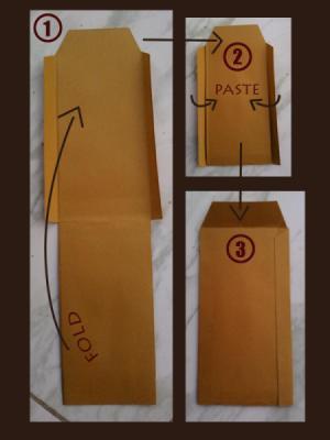 folding guide for envelop