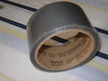 A roll of duct tape to capture insects.