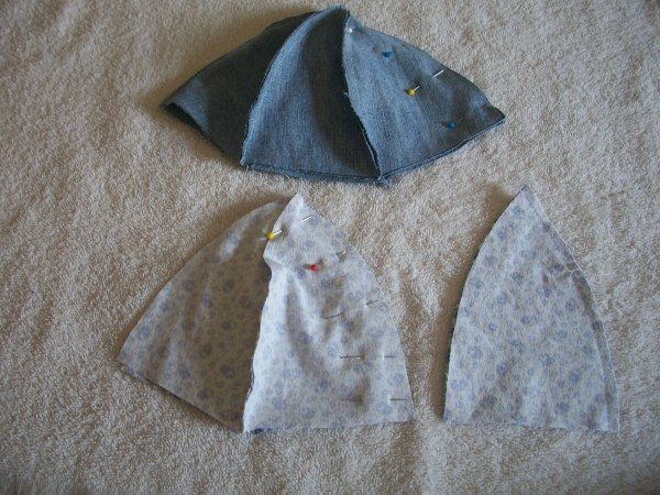 Denim Hats Step 1