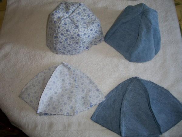 Denim Hats Step 3
