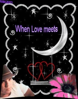 "A picture collage designed on the computer, with the words ""When Love Meets"" over Kenny Chesney and other images."