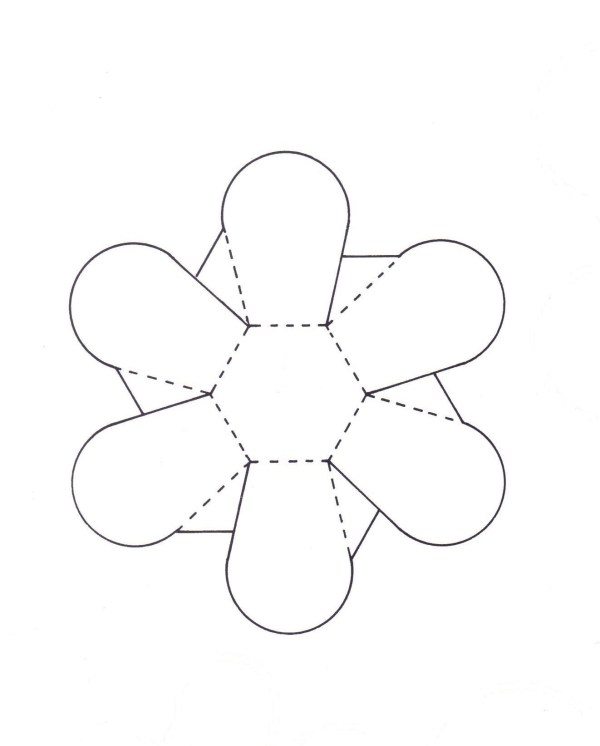 pattern for cutting and folding paper bowls