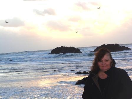 A woman at the Oregon Coast.