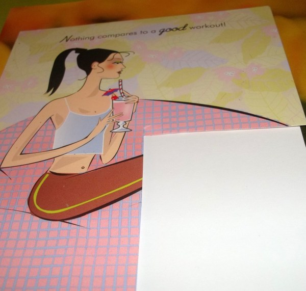 Photo shows how to cut cardstock to match design