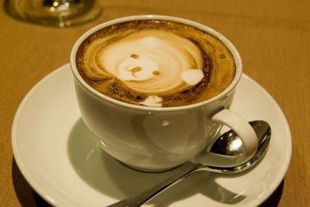 Bear coffee art