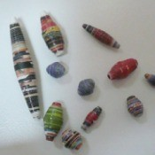 rolled magazine beads