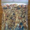 granola in Ziplock bag