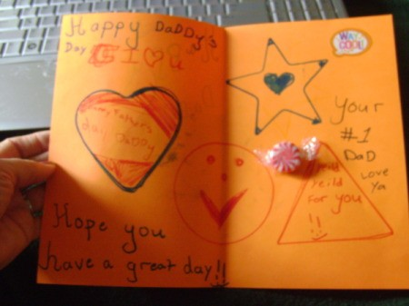 Handmade Father's Day card made by child