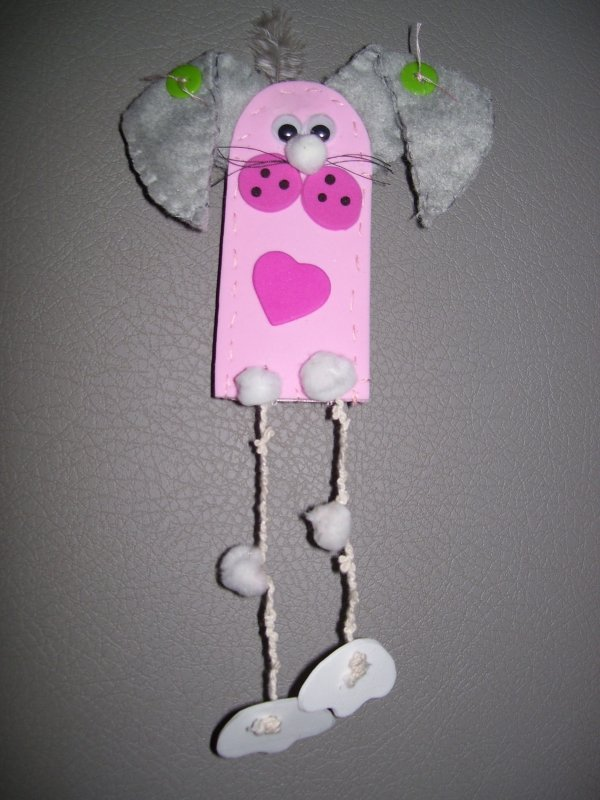 pink bunny magnet