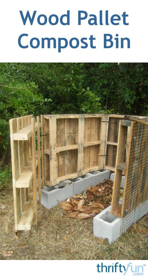 Making A Wood Pallet Compost Bin Thriftyfun