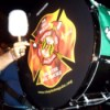 A drum in the Fire Brigade Pipes and Drums of Greater Baltimore