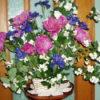 Bouquet of Siberan iris, peony, and mock orange blossoms