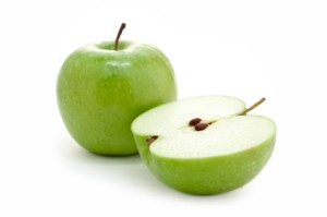 Photo of a green apple.