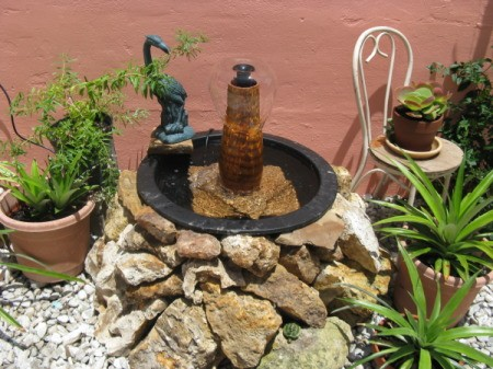Small patio fountain