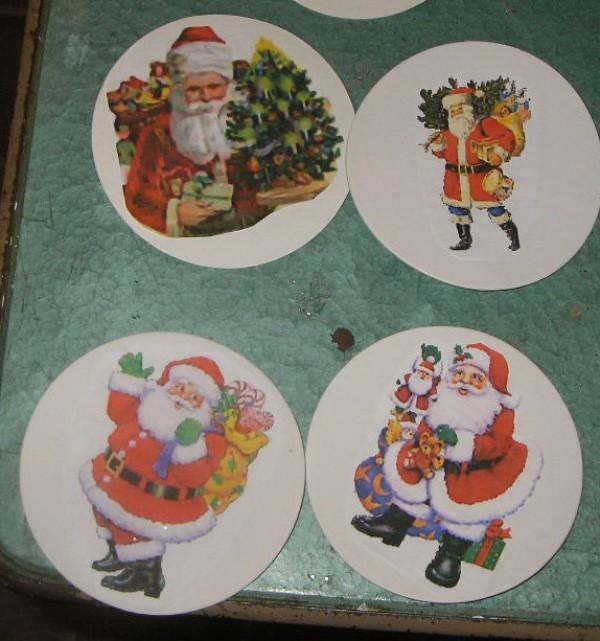 Handmade Santa Coasters