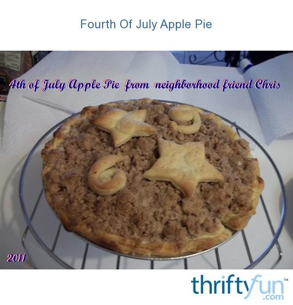 Fourth Of July Apple Pie | ThriftyFun