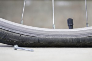Fixing a flat tire is a relatively easy repair. It is never fun when you go out to ride your bicycle and it has a flat, if you pump it up with air and it continues to lose air, you will need to fix the flat. This is a guide for fixing a flat tire on a bic