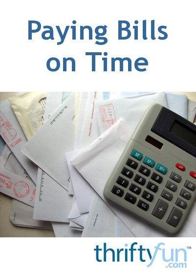 Paying bills on time