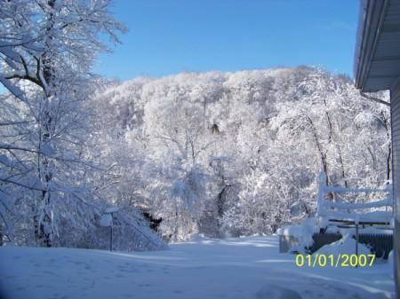 Snow covered hillside