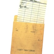image of library due date card