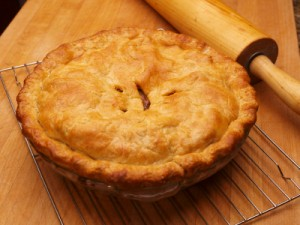 Apple Pie Recipes, Photo of an apple pie cooling.