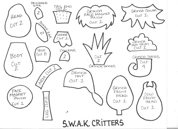SWAK Critters Template