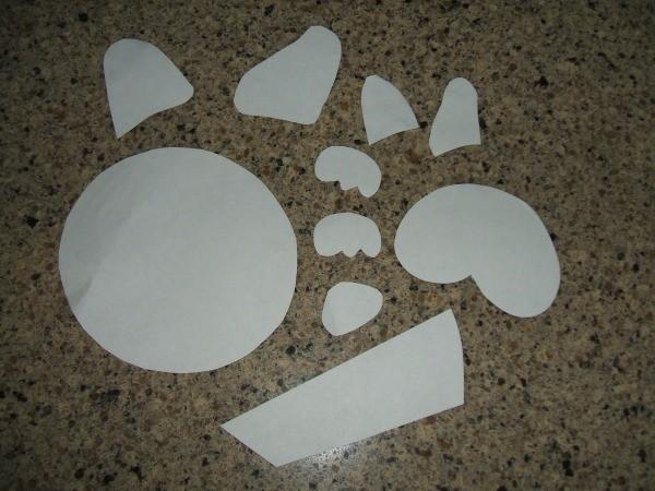 Dog portrait template pieces