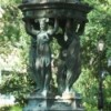 Beautiful sculptured fountain in New Orleans.