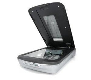 Flatbed computer scanner.