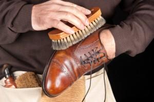 Polishing Leather Shoes