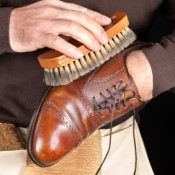 Polishing Leather Shoes