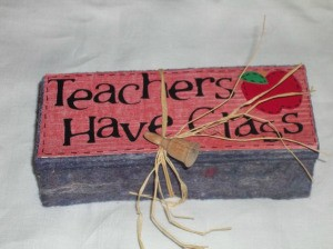 Finished Blackboard Eraser Craft