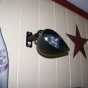 Solar light mounted on interior house wall