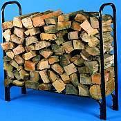 Tublar firewood rack.