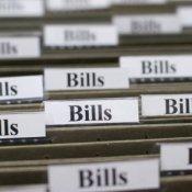Folders labled Bills