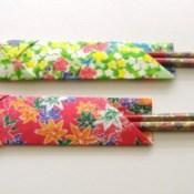 Origami Chopstick Sleeve