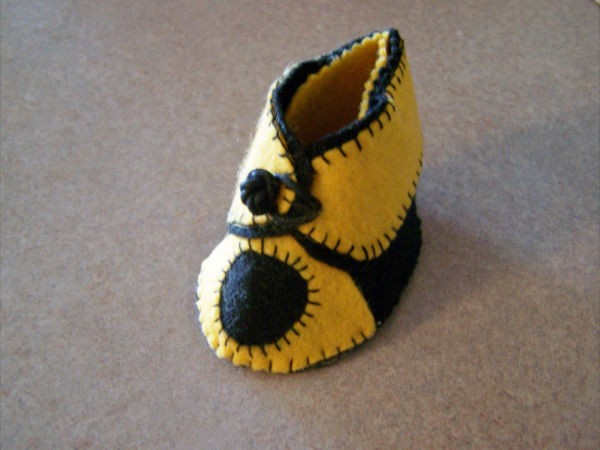 Yellow Baby Bootie