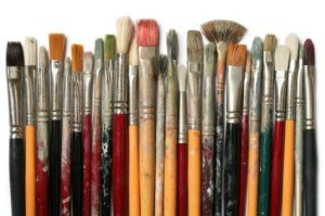 Picture of several paint brushes.