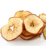 A pile of dried apple slices.