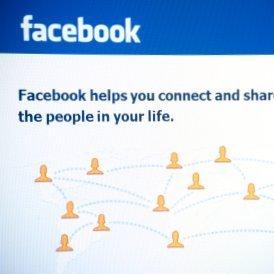 Facebook homepage.