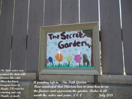 Painting in Secret Garden